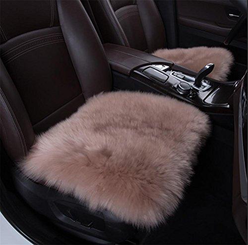 Faux-leder-dekorative Kissen (DIELIAN 18 Zoll luxuriöse Schaffell lange Wolle Sitzauflagenbezüge Stuhl Kissen , khaki)