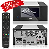 XTREND ET 8500 HD Sat-Receiver mit Aufnahmefunktion und Festplatte 1000GB HDD PVR - LCD Display, 2 x DVB-S2 Sat Tuner mit XAiOX® HDMI Kabel