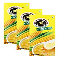 TRIPPLESTAR Corn Flour, 100 gm, Pack of 3