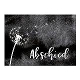 Trauerkarte mit Umschlag im 15er Set - Pusteblume schwarz weiss - Einladung Beerdigung, Anzeige, Trauer, Sterbefall, Friedhof, Begräbnis