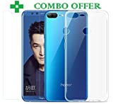 #5: Honor 9 Lite, Tempered Glass & Back Cover, [COMBO-Transparent] Premium Real 9H Anti-Fingerprints & Oil Stains Coating Hardness Screen Protector Guard For Honor 9 Lite