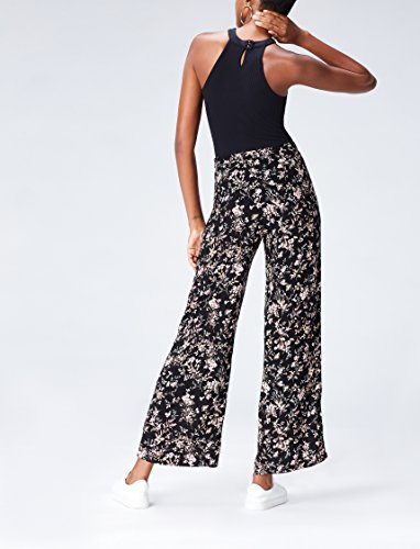 FIND Damen Hose mit Blumenmuster Schwarz (Black Mix), 38 (Herstellergröße: Medium) - 3