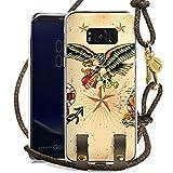 DeinDesign Samsung Galaxy S8 Plus Carry Case Hülle zum Umhängen Handyhülle mit Kette Schiff Anchor Anker