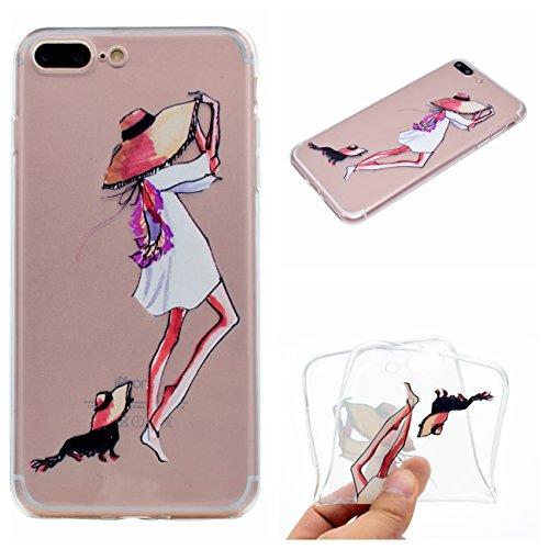 iPhone 7 4.7 Hülle, Voguecase Silikon Schutzhülle / Case / Cover / Hülle / TPU Gel Skin für Apple iPhone 7 4.7(Erdmädchen) + Gratis Universal Eingabestift Haustier Mädchen