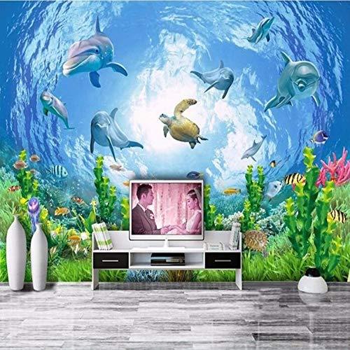 Sucsaistat Wallpaper Mural 3D Wallpaper Traum Fisch unterwasserwelt Fernseher Wand Foto Wallpaper 3 d Home Dekoration 3D Boden, 250 * 175 cm