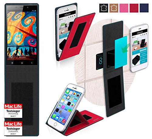 reboon Hülle für Gionee Elife E7 32GB Tasche Cover Case Bumper | Rot | Testsieger