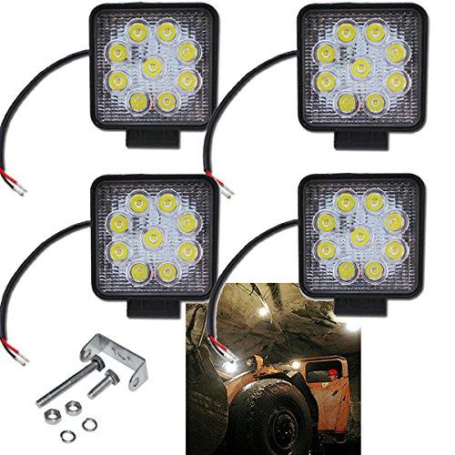 Preisvergleich Produktbild Hengda® 4X 27W LED Arbeitsleuchte Scheinwerfer Offroad Flutlicht 10-30 V DC Zusatzscheinwerfer 6500K