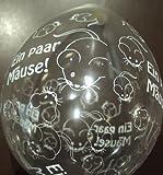 DeCoArt... Latexballons Luftballons Neck up Geldgeschenk Ein Paar Mäuse naturell ca 13 cm Nicht ballongas Geeignet