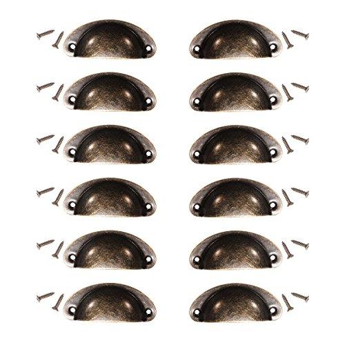 KING DO WAY Conjunto de 12 piezas de manija de los muebles, Tiradores de Shell Style cajones Vintage / muebles