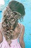 Aukmla cristallo fascia nuziale–Pearl wedding Headpieces per donne e ragazze (argento) immagine