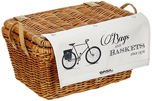Basil Fahrradkorb Portland Basket Classic, Varnished Natural, 40 x 32 x 28 cm, 13074