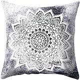 Sintética de moda Impreso Funda de almohada cama Manta de sofá cuadrado funda de cojín decoración para el hogar, 4#, talla única