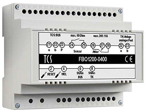 TCS Tür Control Bus-Interface FBO1200-0400 für TK-Anlagen Zusatzgerät für Türkommunikation 4035138020992 Alarm Control Interface
