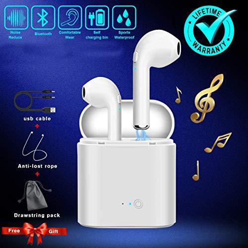 Auriculares Bluetooth, Auriculares Bluetooth con Estuche de Carga Auri