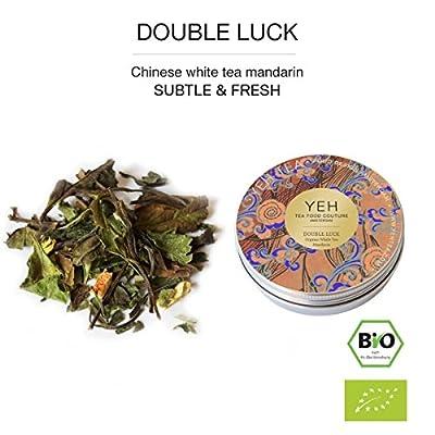 "YEH thé blanc chinois Bio -Tee ""Double Happiness"" l'étain 15g (blanc bio - thé)"