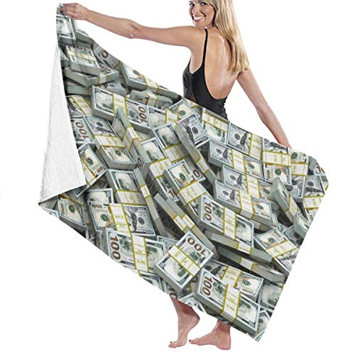 xcvgcxcvasda Badetuch, Soft, Quick Dry, Beach Towels Decor Polyester Fiber American Dollar Sign Badetuch,s Oversized Soft, High Absorbent, Eco-Friendly Printed Badetuch,Quick Dry 31.5