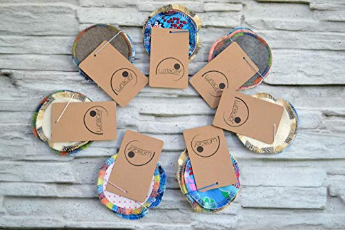 Abschminkpads aus Bio-Baumwolle, waschbar, 6 Stück, Kosmetikpads, wiederverwendbare Wattepads, Überraschungsset, Testset, umweltfreundlich, nachhaltig, Zero Waste, Lunaciel