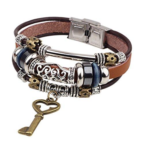 amazingdeal365-braccialetto-ciondolo-bracciale-in-pelle-link