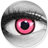 Lenti a contatto colorate annuali lenti a contatto Meralens 1 rosa nero Crazy Fun Rose Lunatic. Top quality to carnival carnival Halloween con lenti a contatto contenitore senza forza