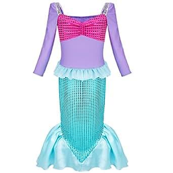 iEFiEL Kinder Kostüm für Mädchen Meerjungfrau Kostüm