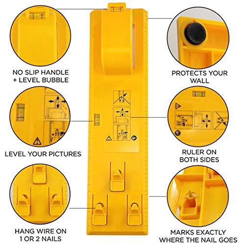 Tool Hanger Kit (biteatey Picture Hanger Tools mit Level icture Aufhängern - Frame Hanging Kit Rahmenlineal für Markierungsposition für alle Wandmaterialien Cosy)