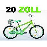 20 Zoll Kinderfahrrad Kinder Bike Jungen Fahrrad Bike Jugendfahrrad Jugendrad Rad KICK GRÜNWEISS