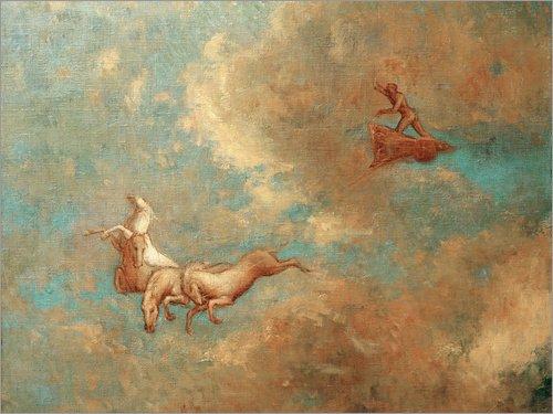 Posterlounge Alubild 40 x 30 cm: Der Wagen des Apoll von Odilon Redon/akg-Images (Griechischer Gott Wagen)
