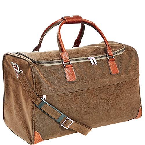 BUTLERS Pack & Ride Reisetasche in braun 52 cm- Weekender Reisegepäck in Leder-Optik - Vintage Design -