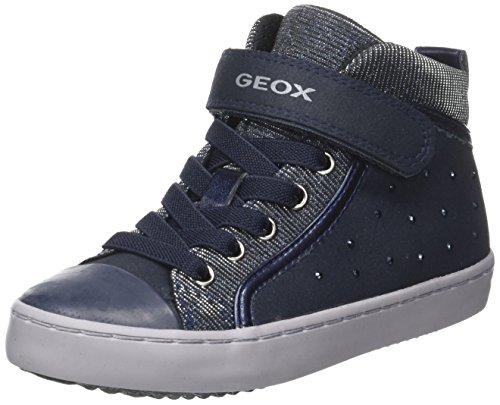 Geox Mädchen J Gisli Girl A Hohe Sneaker, Blau (Navy), 35 EU (Geox Kinder Turnschuhe)