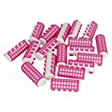 Evelots 18 Heated Hair Curlers Simple Effective Advanced Hold Pink-25mm Diameter