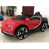 getbest buggati ride on car for kids with 12v battery operated and remote red