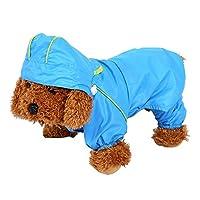 Manteau Imperméable Veste De Pluie Étanche 6 Tailles Avec Capuche Protection Vêtements Pour Chien Chiot Animal ( Taille : S )