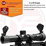 In Your Sights 2x20 Long eye relief scope, Pistol Crossbow