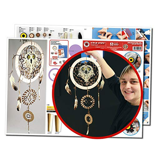 Karen Marie Klip Papirmuseets By A/S Quilling Template, Traumfänger Eule/Dreamcatcher Feather Owl (Template Quilling)