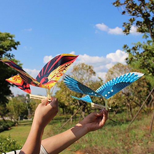 Dabixx Drachen der fliegenden Vögel, 10 Stück Elastische Gummiband Powered Flying Birds Kite Lustige Kinder Spielzeug Geschenk Outdoor