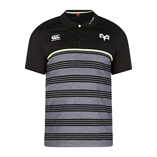 2017-2018 Ospreys Rugby Cotton Stripe Polo Shirt (Tap Shoe) (Stripe Rugby Herren Polo-shirt)
