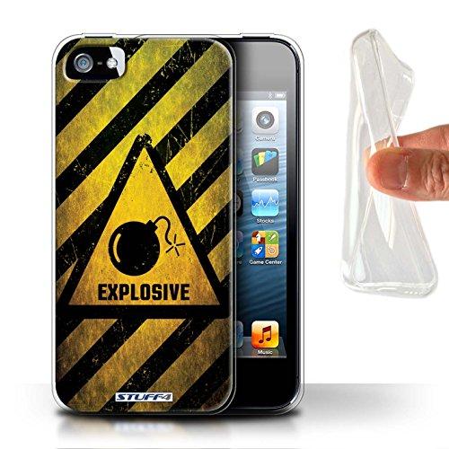 Stuff4 Gel TPU Hülle / Case für Apple iPhone X/10 / Atombombe Muster / Warnung Zeichen Kollektion Explosiv