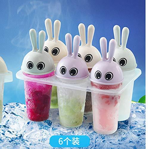 ALEMIN 6-Gruppen-EIS Kuchenform, Haushalt Cartoon niedlich kreative hausgemachte große Eisbar Modelle, Ice Cream Bar Mould Set für Kinder Familie