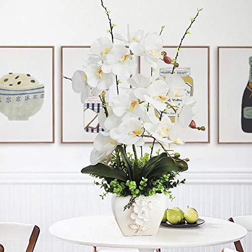 AP Auple Künstliche Orchidee Phalaenopsis im Topf, Blumenarrangement Home Dekorationen