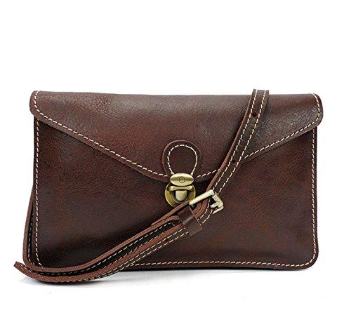 Frauen Retro Schultertaschen Leder Crossbody Messenger Bags Für Frauen Handtaschen Reisen Girls Satchel Aktentasche Brown
