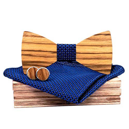 Makefortune Holz Fliege, Männer vor gebunden, hölzerne Fliege einzigartige Designs Hybrid Holz Bowtie verstellbare Mens Hochzeit solide Krawatte Farbe Krawatte für Anzug Bekleidungszubehör (Men T-shirt Boss Junior)