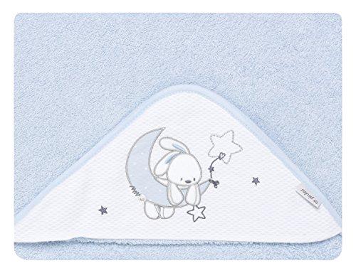 pirulos 00713113–maxicapa, Design Mond, 100x 100cm, weiß und blau