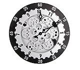 Retro orologio degli artigiani 12 pollici anello ingranaggio dinamico tempo di precisione orologio