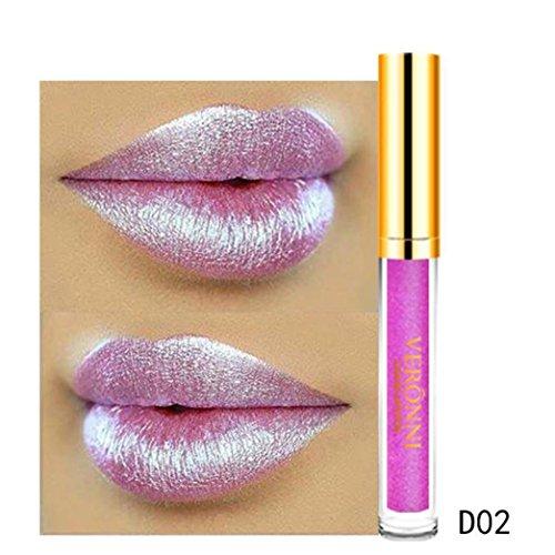 LCLrute 10 Farben Wasserdicht Langlebige Matte Flüssige Lippenstift Schönheit Lipgloss Set (B)