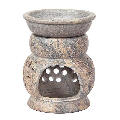 Aheli - Difusor de Aceite de esteatita, Hecho a Mano, Aroma Natural, diseño de búho, para decoración...