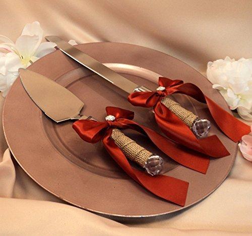 Romantische Kuchen Messer Schaufeln Schleife für Hochzeit und Party (Halloween Candy Buffet-tisch)