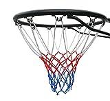 Tamaño oficial (45 cm) anillo de baloncesto, aro red y montaje en la pared fijaciones. Adecuado para adultos y niños