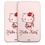 ZTE Open L Tasche Hülle Sleeve Bag - Hello Kitty - Roses