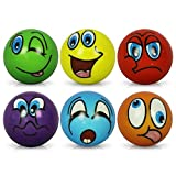 12 x Stressball Streßball Knautschball Antistressball lustige Gesichter Softball sortiert