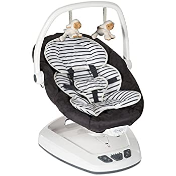 c91e33fadf1 Graco Move with Me Infant Soother, Breton Stripe: Amazon.co.uk: Baby